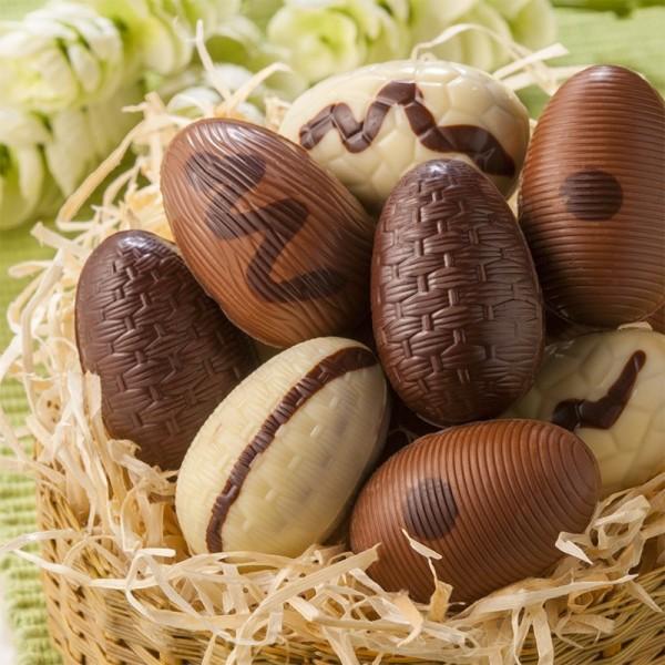 Œufs de Pâques en Chocolat Praliné - Achat Biscuits et Compagnie