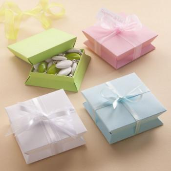 Boîte Dragées Carrée 9,5 x 9,5 cm - 12 pièces