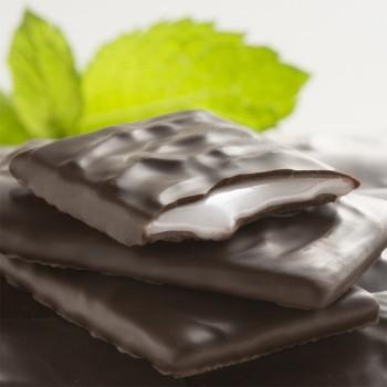 Fines Feuilles de Chocolat Noir à la Menthe - 200g