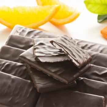 Fines Feuilles de Chocolat Noir à l'Orange - 200 g