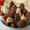 Figurines de Noël au Chocolat Praliné - 250g