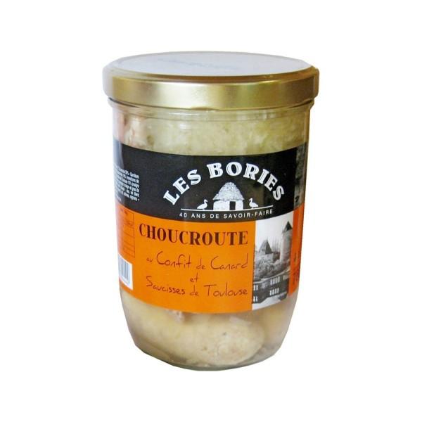 Choucroute au confit de canard et saucisses de Toulouse