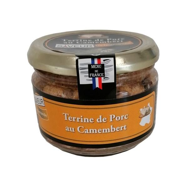 """Terrine de Porc au Camembert """"Menu de France""""- Conserverie Stéphan"""