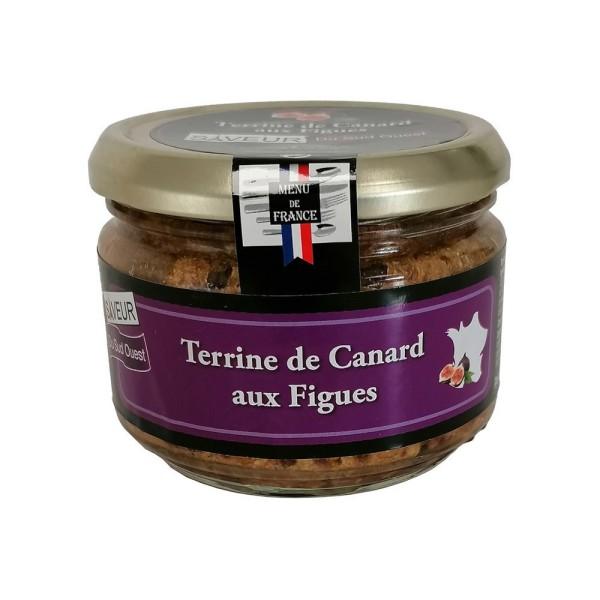 """Terrine de Canard aux Figues """"Menu de France"""" - Conserverie Stéphan"""