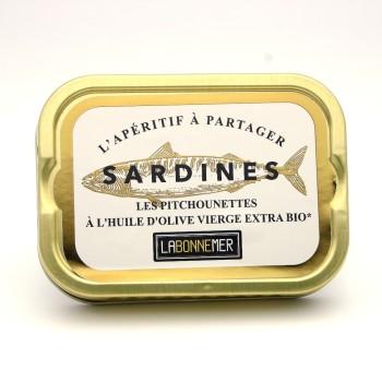 Petites sardines huile d'olive bio¹
