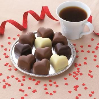Assortiment de 10 Chocolats Cœur